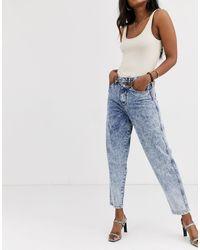 River Island – Jeans mit weitem Bein - Blau