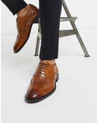 ASOS Светло-коричневые Оксфордские Туфли-броги Из Кожи - Коричневый
