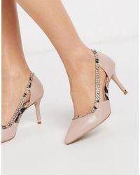 Carvela Kurt Geiger Carevela - Kamper - Chaussures pointues à talons mi-hauts - Beige - Neutre