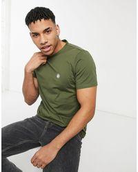 Pretty Green Camiseta caqui Mitchell - Verde