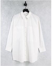SELECTED Camisa color crema - Blanco