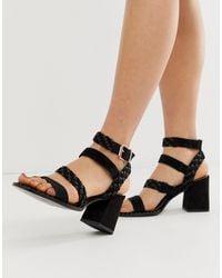 River Island Sandals With Multi Straps - Black