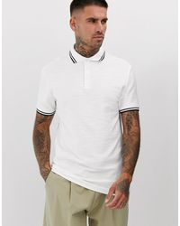 ASOS - Polo Shirt In Interest Jersey With Contrast Tipping - Lyst