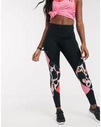 Under Armour Training Rush Printed Colourblock leggings - Pink