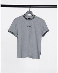Kickers Boyfriend T-shirt With Logo Front - Grey