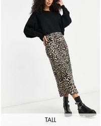 TOPSHOP Satin Bias Skirt - Black