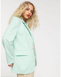 & Other Stories Oversized Textured Blazer - Green