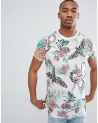 f86f5b11f51 ASOS - Relaxed T-shirt With All Over Floral Insect Print - Lyst