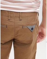 Ted Baker Schmale Chino-Shorts in Bronze - Braun