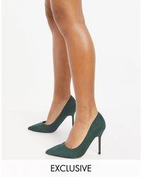 ASOS Зеленые Туфли-лодочки Для Широкой Стопы На Высоком Каблуке - Зеленый