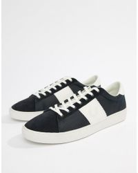 Fred Perry - Spencer Nylon Contrast Trainers In Navy - Lyst