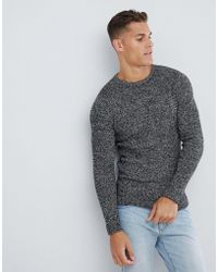 SELECTED Knitted Sweater In Twisted Yarn Cotton - Black