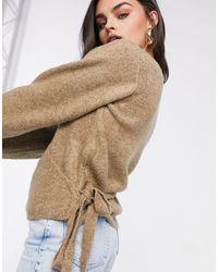 ASOS Wrap Fluffy Sweater - Multicolor