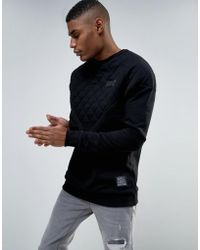 Cheats & Thieves - Windbreaker Quilted Panel Sweater - Lyst