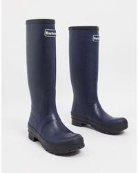 Barbour Tall - Abbey - Stivali da pioggia navy con logo - Blu