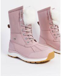 UGG Adirondack Waterproof Leather Boots - Pink