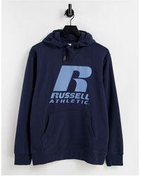 Russell Athletic Felpa con cappuccio - Blu