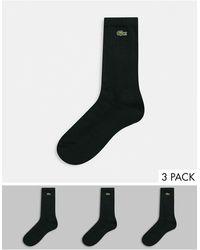 Lacoste 3 Pack Socks - Black