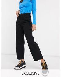 Monki Mozik Wide Leg Jeans With Organic Cotton - Black
