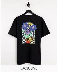 Reclaimed (vintage) Camiseta negra con estampado gráfico - Negro