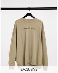 Reclaimed (vintage) Inspired Unisex Slogan Sweatshirt - Green