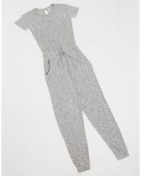 Chelsea Peers – Kurzärmliger Pyjama - Grau