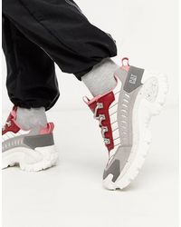 Caterpillar Cat Intruder Chunky Trainers - Red