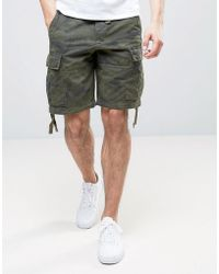 Abercrombie & Fitch Cargo Short In Camo - Green