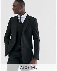 ASOS Tall Slim Suit Jacket - Black