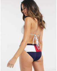 Tommy Hilfiger Klassiek Bikinibroekje Met Vlaglogo En Hoge Taille - Blauw