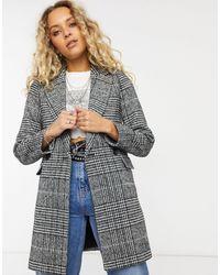 ONLY – Zweireihiger Mantel - Mehrfarbig