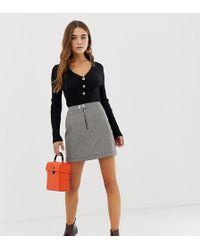 83aa1e8c7 Minifalda de cuadros grises