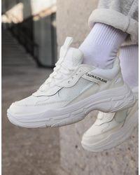 Calvin Klein Maya White Chunky Sneakers