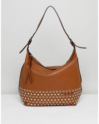 Lavand - Slouchy Shoulder Bag With Eyelet Detailing - Lyst