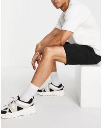 Pull&Bear Linen Shorts - Black