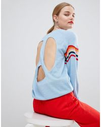House of Holland - Wavey Peace Cut Out Jumper - Lyst