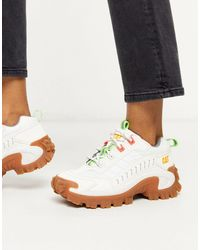 Caterpillar Cat Intruder Chunky Sneakers - White