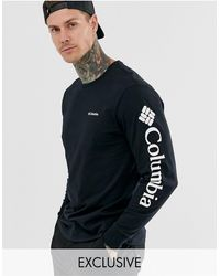 Columbia In esclusiva per asos - - north cascades - t-shirt a maniche lunghe nera - Nero