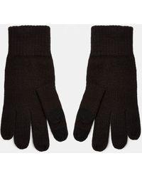 TOPMAN Черные Перчатки Для Сенсорных Экранов -черный Цвет