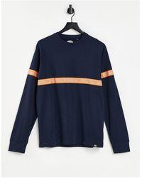 Dickies West ferriday - t-shirt à manches longues avec bande réfléchissante - bleu