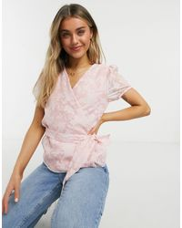 Vila Blouse With Tie Waist - Pink