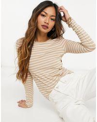 Mango Long Sleeve Stripe T-shirt - Multicolour