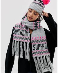 Superdry Шарф С Логотипом -мульти - Многоцветный