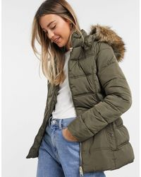 New Look Fitted Padded Jacket - Natural