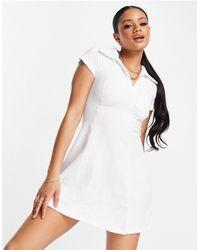 ASOS 4505 Трикотажное Теннисное Платье -белый