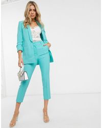 ASOS Mix & match - Pantaloni da abito eleganti sartoriali a sigaretta - Verde
