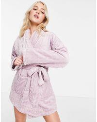 Miss Selfridge Soft Cosy Robe - White