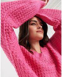 AX Paris Объемный Розовый Джемпер Из Синели