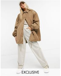 Collusion - Светло-коричнева Спортивная Куртка В Стиле Oversized -бежевый - Lyst