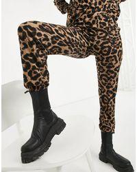 ONLY Джоггеры От Комплекта С Леопардовым Принтом -многоцветный